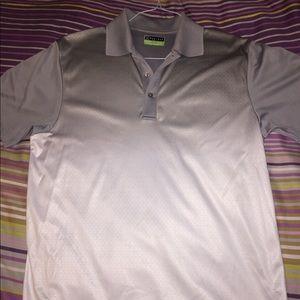 White/Grey PGA Performance Golf Shirt